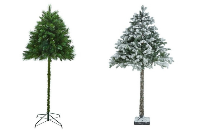 The UK retailer offers a unique artificial tree: a 6 foot, half parasol Christmas tree.
