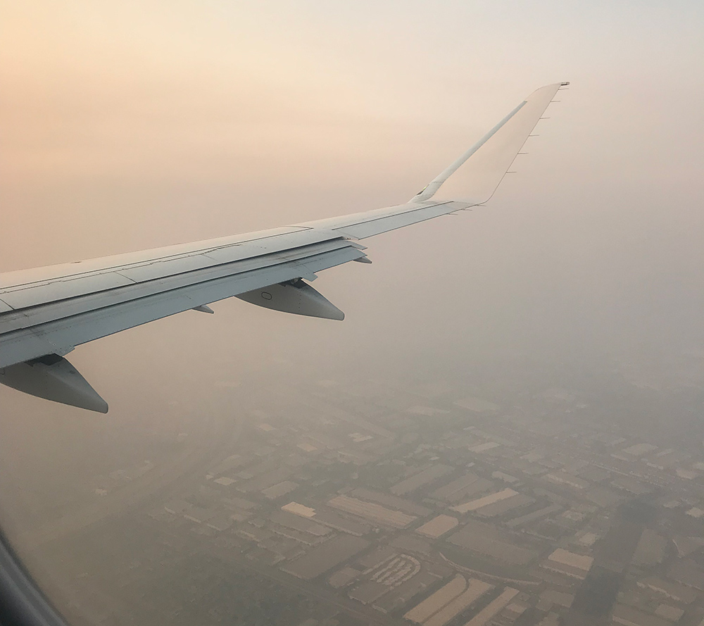 california fires smoke view from plane