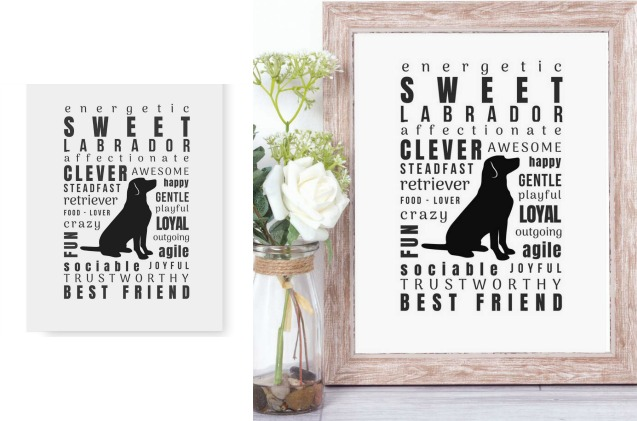 This quote art is beautiful labrador retriever decor