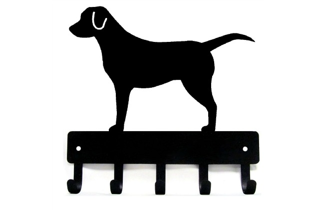 This key and leash hanger will be a great piece of labrador retriever decor